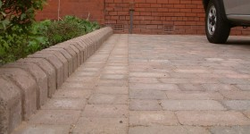 Pic 20 shows view of tegular kerb alongside driveway
